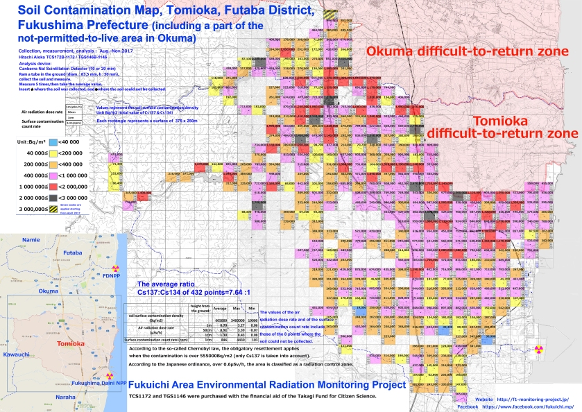 Tomioka soil constamination map M